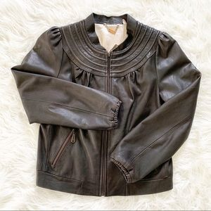 DOMA Leather Bomber Jacket S